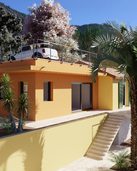 Extension moderne d'une villa à Castellar (Alpes Maritimes 06)